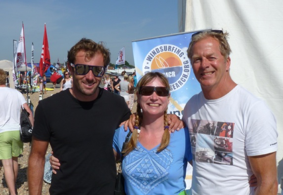 I have met interesting people. Here with Nick Dempsey, Olympic Silver Medalist & Peter Hart, 'one of the most influential windsurfers of all time'!