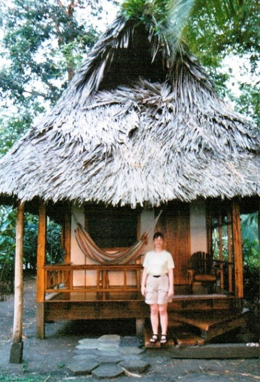But we thought that the mahogany banana cabin with a view over the Golfo Dulce would be worth it.
