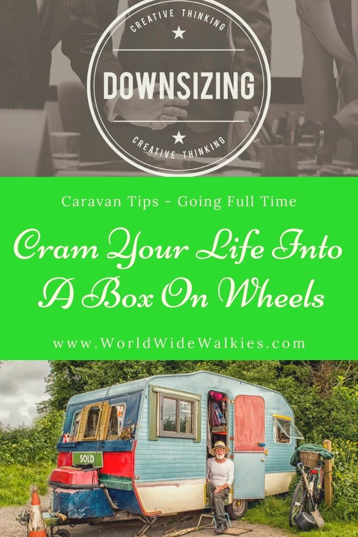 Cram Your Life Into a Box On Wheels Pin