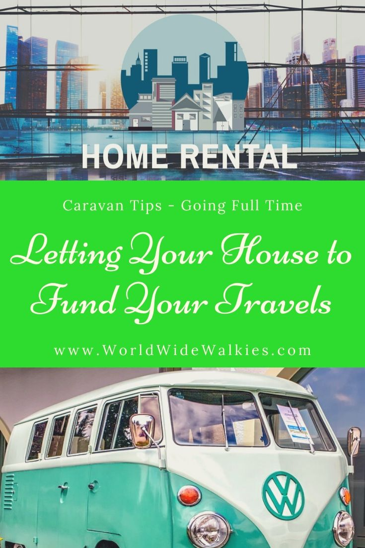 Letting your House to Fund Travel Pin