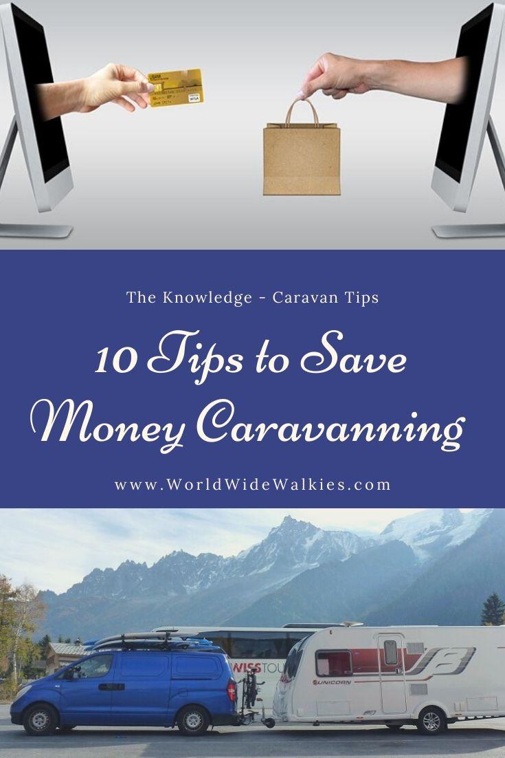 Save Money Caravanning Pin
