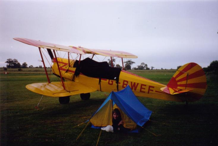 Air - Camping under my wing at Old Warden
