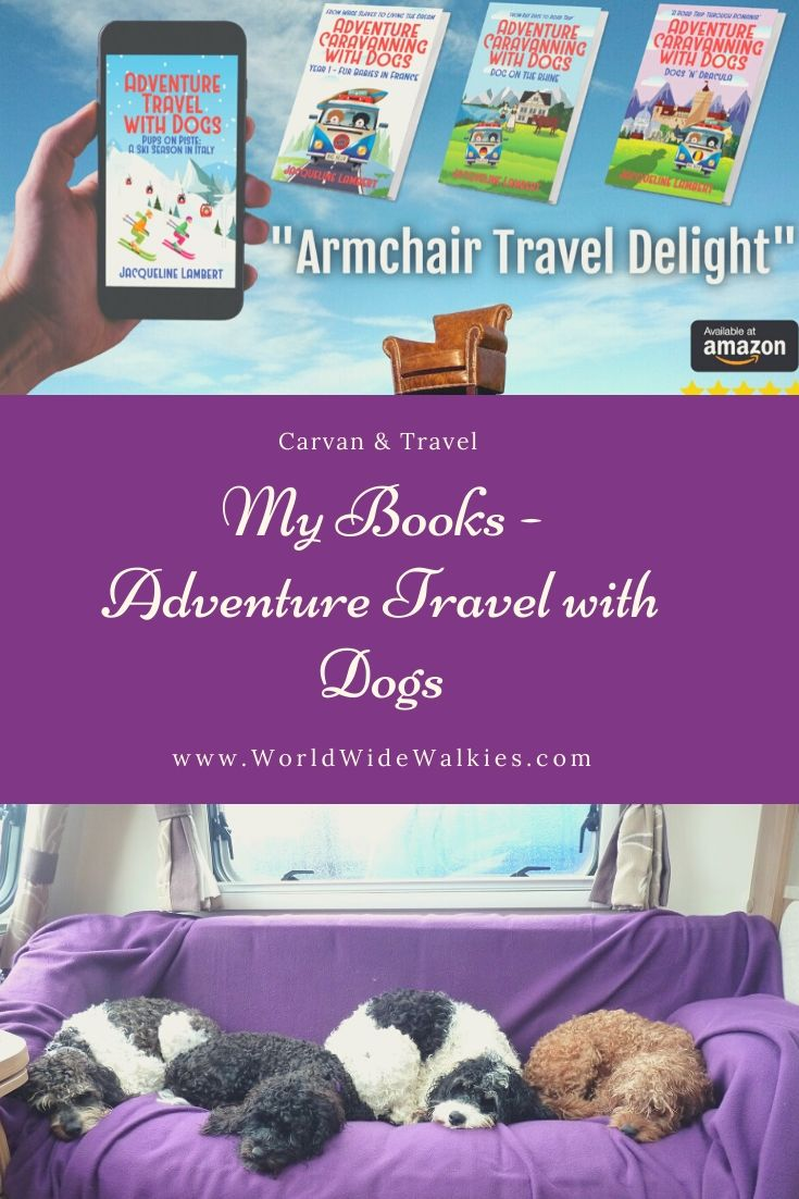 My Books Adventure Travel with Dogs Pin