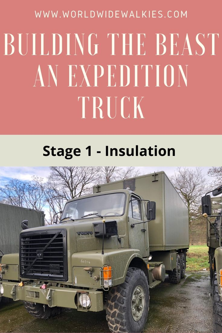 Overland Truck Build Insulation Pin
