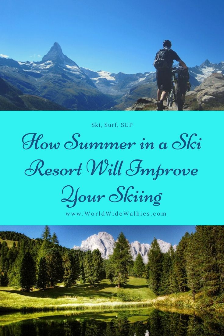 Summer Skiing Pin
