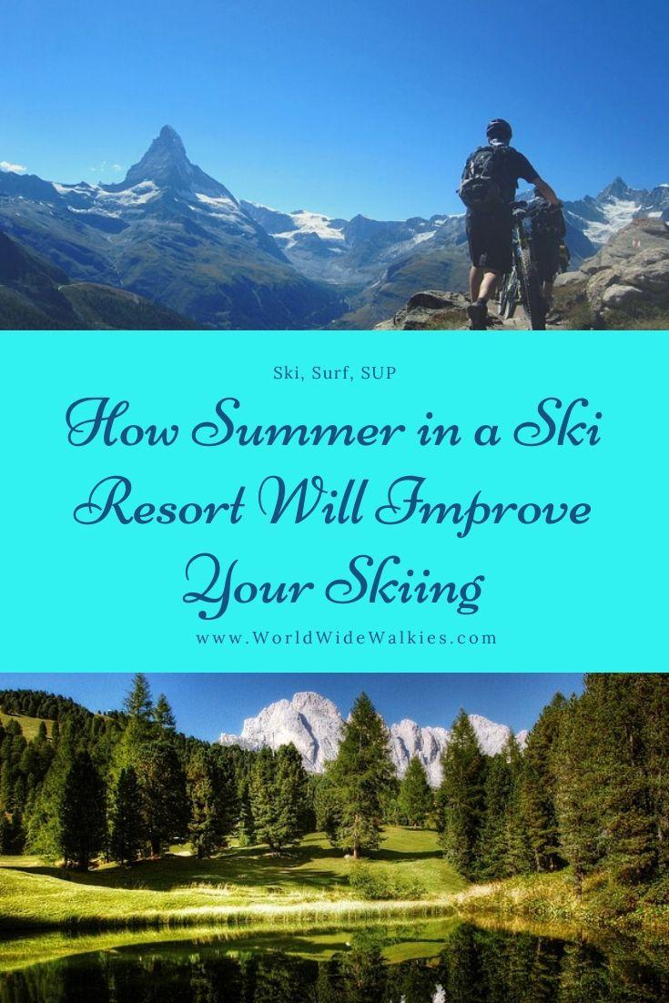 Summer Skiing Pin